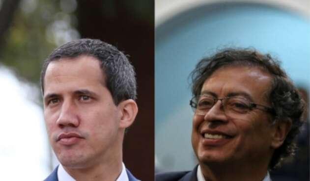 Juan Guaidó y Gustavo Petro