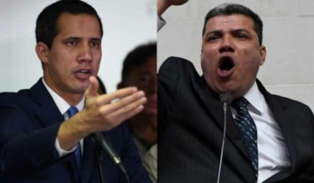 Juan Guaidó y Luis Parra, políticos venezolanos.
