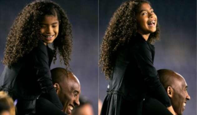 Kobe Bryant y Gianna en 2014