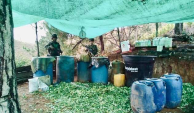Laboratorio de cocaína en Jamundí