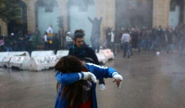 Manifestaciones en Líbano