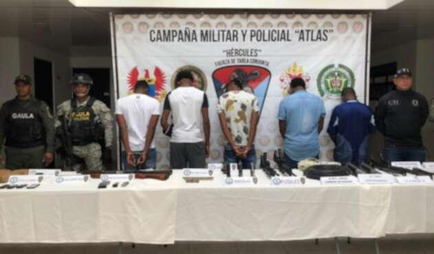 Cinco capturados de las dos organizaciones criminales fueron capturados en le Pacifico de Nariño