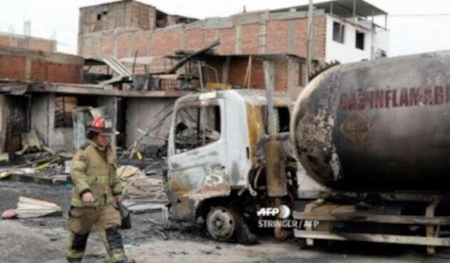 Explosión de camión cisterna en Lima, Perú