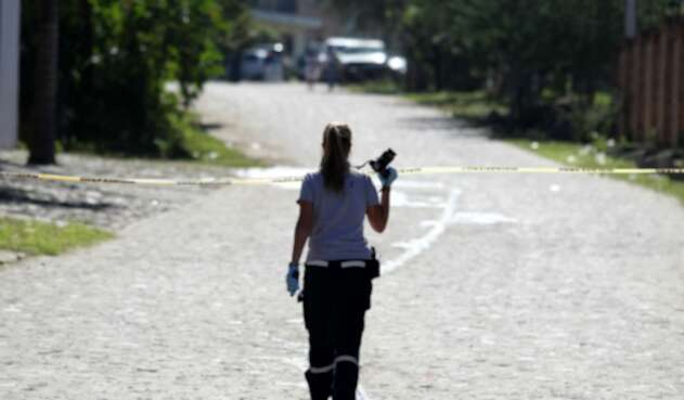 Policía en México investiga crimen
