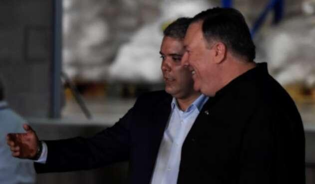 Presidente Iván Duque y Mike Pompeo