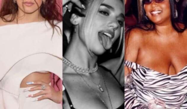 Rosalia Dua Lipa y Lizzo imágenes de Instagram