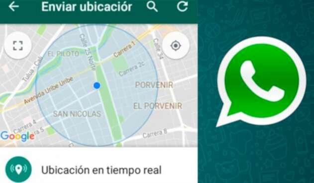 Ubicación en tiempo real de WhatsApp