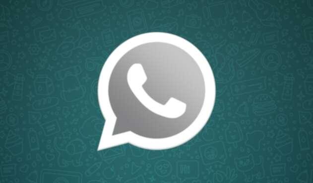 Logo de WhatsApp en tono oscuro