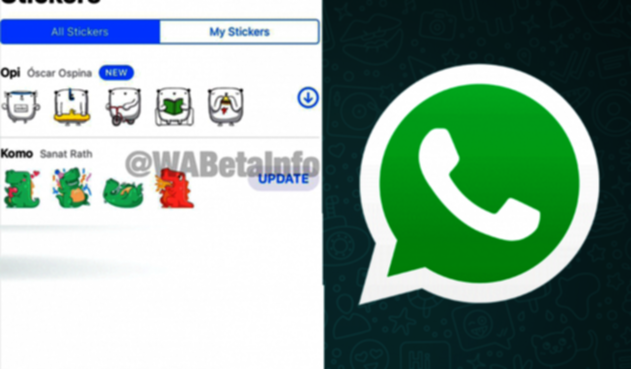 Stickers animados en WhatsApp