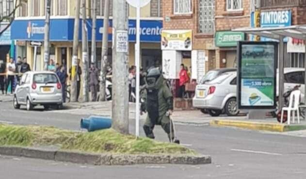 Paquete sospechoso en la Calle 75, en Bogotá