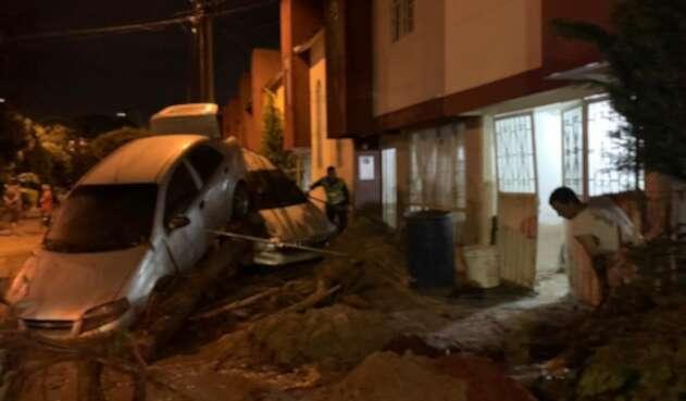 Muchas personas dormían mientras ocurrió la emergencia en Floridablanca.