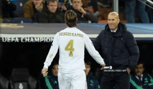 Zidane y Sergio Ramos
