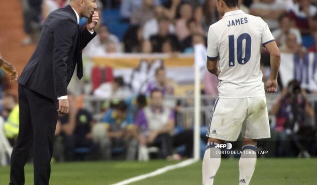James y Zidane - Real Madrid