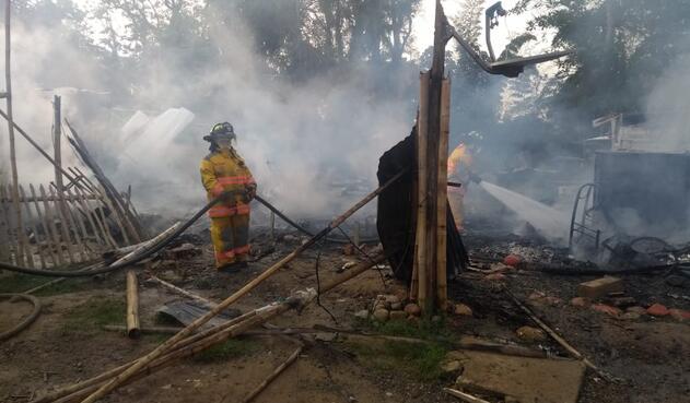 Al menos diez viviendas resultaron afectadas