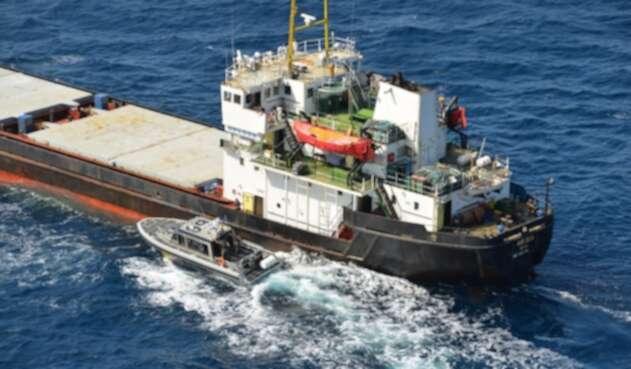 Más de 5 toneladas de cocaína en un buque que navegaba en aguas del Mar Caribe