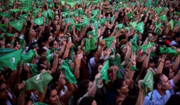 Manifestaciones pro aborto en Argentina