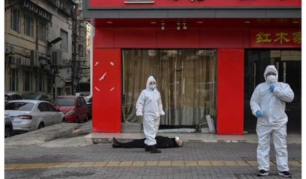 Hombre muerto en Wuhan