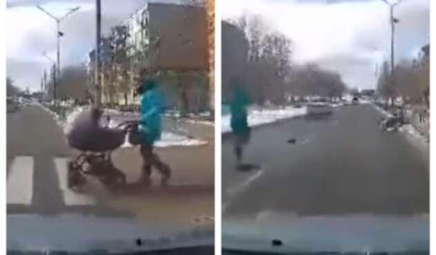 Accidente con bebé Ucrania