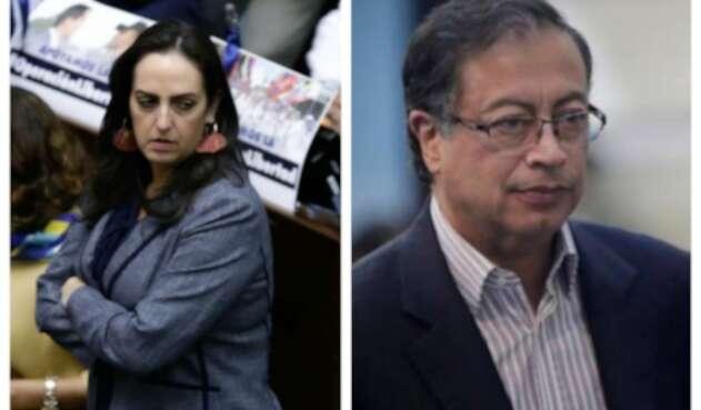 Maria Fernanda Cabal y Gustavo Petro
