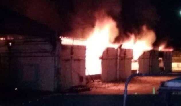 Incendio de almacén de CANTV