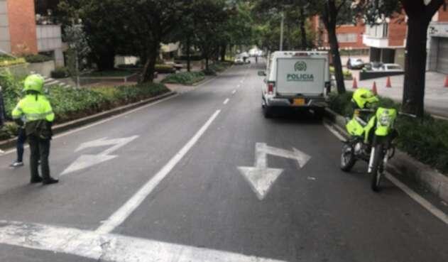 Carro abandonado en Bogotá