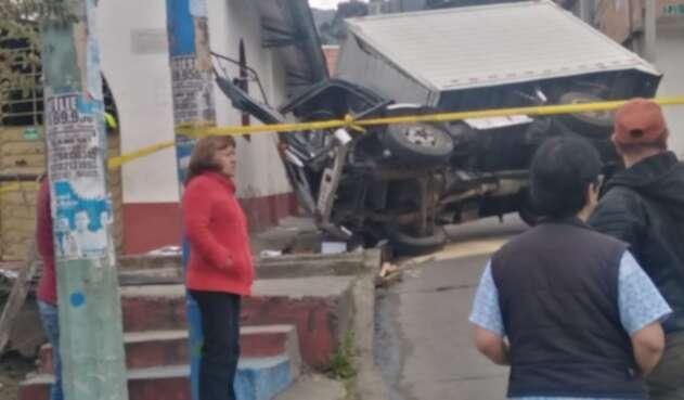 Choque contra iglesia en Bogotá