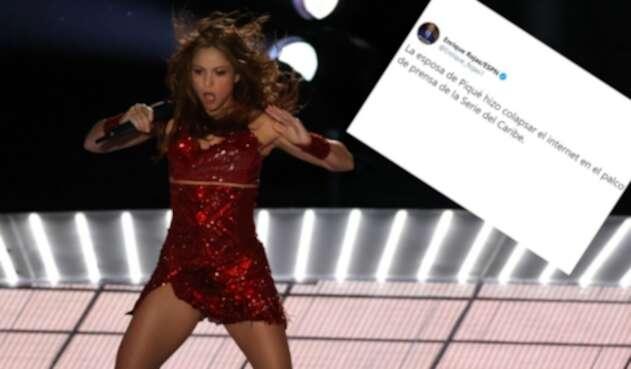 Periodista de ESPN quiso menospreciar a Shakira.