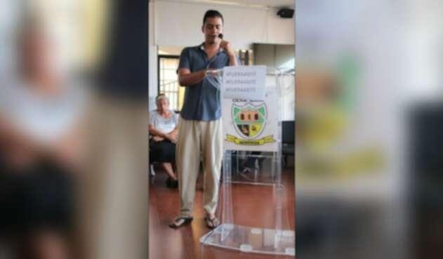 Concejal en pijama en Remedios, Antioquia