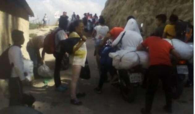 Personas desplazadas desde el municipio de Ábrego en Norte de Santander