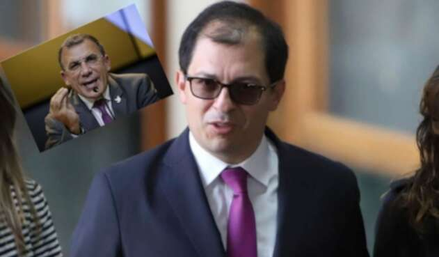 El Fiscal General de la Nación, Francisco Barbosa; y senador Roy Barreras Montealegre.