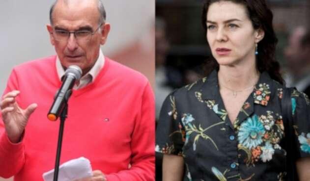 Humberto de la Calle y Margarita Rosa de Francisco
