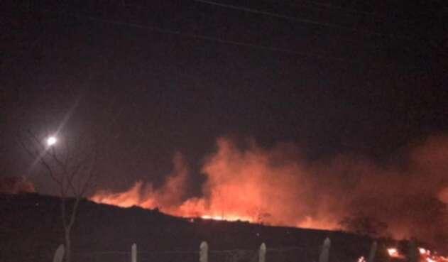 Incendio forestal ocurrido en el municipio de Juan de Acosta.