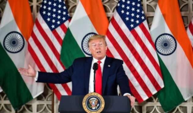 Trump en la India