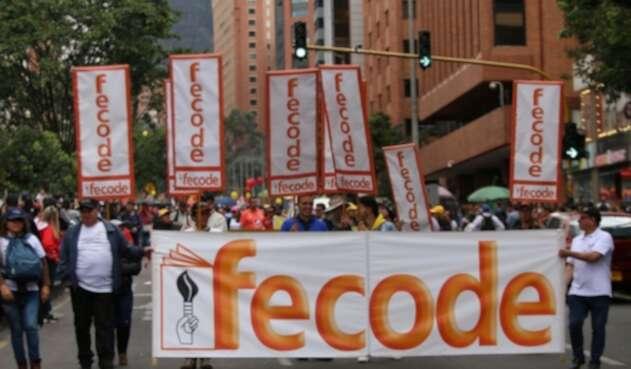 Marchas de maestros de Fecode