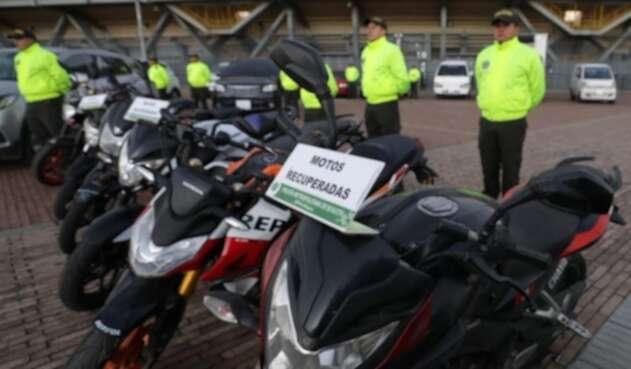 Motos robadas en Bogotá
