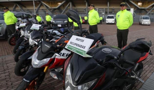 Motos robadas