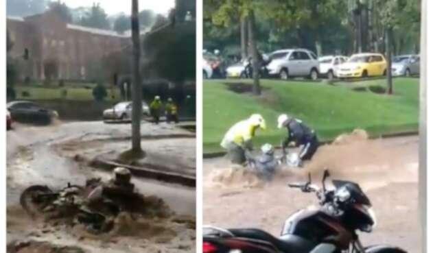 Motociclista fue arrastrado en Bogotá