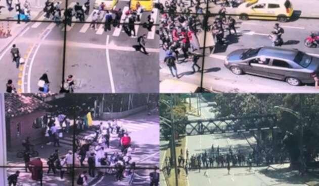 Protestas de estudiantes en Medellín