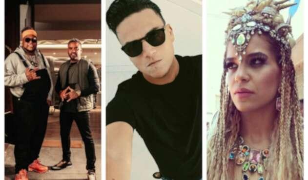 Silvestre Dangond junto a Zion y Lennox y Giselle Lacouture Pacini