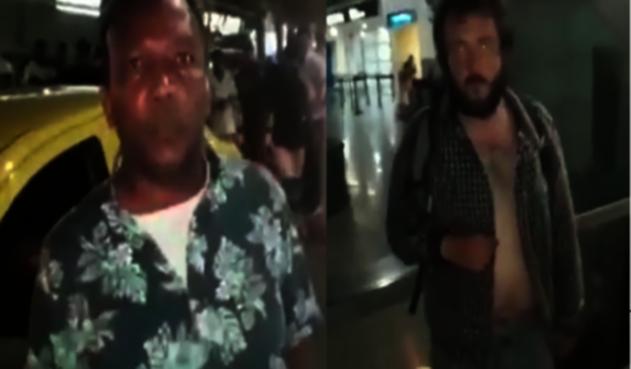 Taxista le pegó con un palo a un extranjero