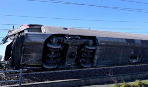 Tren se descarriló en Italia