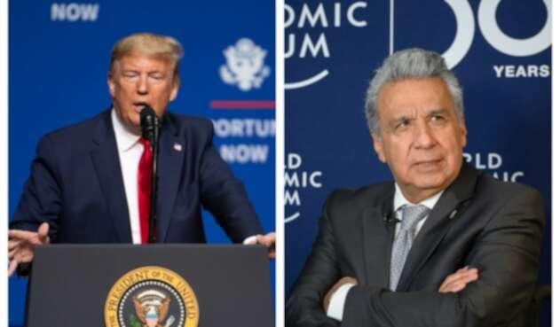 Donald Trump y Lenín Moreno