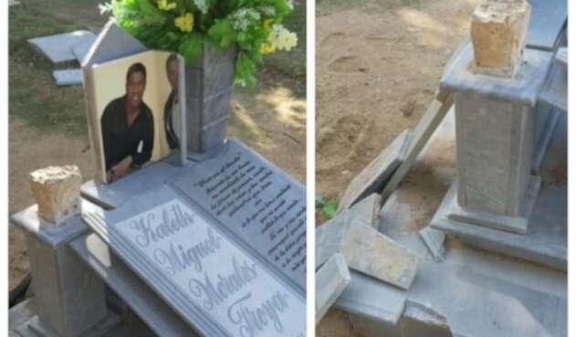 Daños en tumba de Kaleth Morales