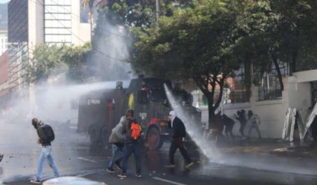 Disturbios en la Universidad Pedagógica - Febrero 13