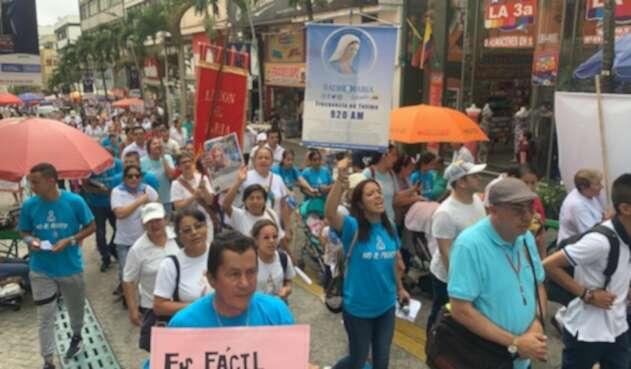 Marcha en contra del aborto