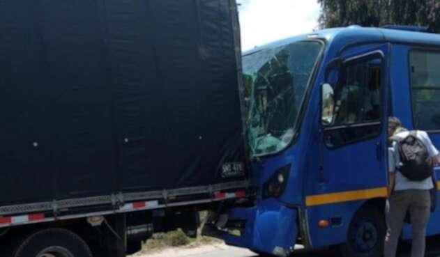 Accidente SITP Bogotá