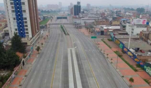 Así se vive el aislamiento voluntario en Bogotá.