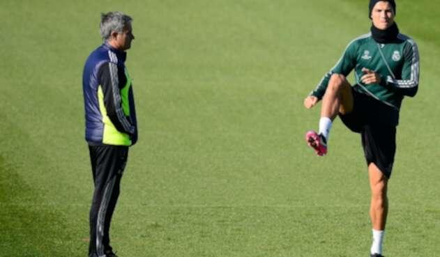 Mourinho y Cristiano Ronaldo