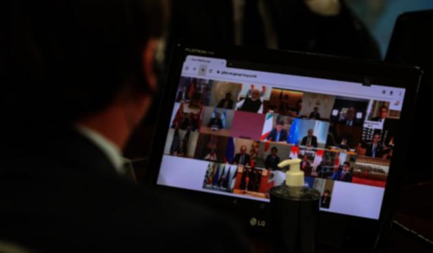 Reunión virtual del G20 por el Covid-19