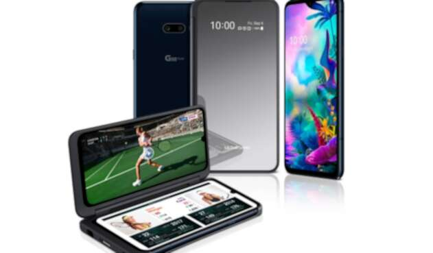 El G8 X ThinQ maneja una doble pantalla